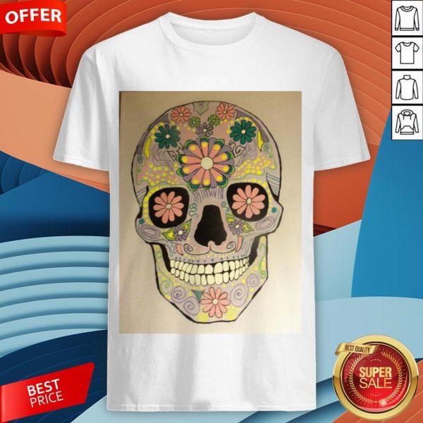 Day Of The Dead Sugar Skull Flower Heaven Shirt