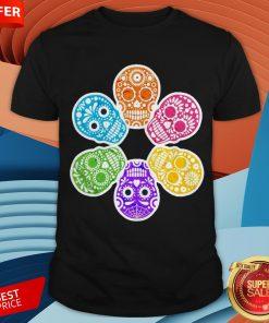 Day Of The Dead Sugar Skulls Funny Retro Shirt