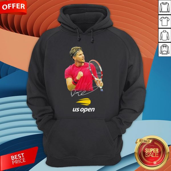 Dominic Thiem Champion Us Open Signature Hoodie