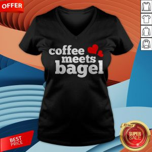 Funny Coffee Meets Bagel V-neck