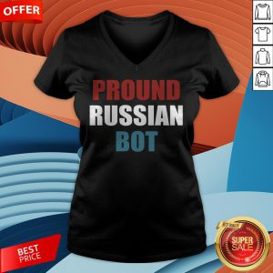 Funny Pround Russian Bot V-neck