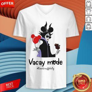 Funny Vacay Mode Teacheroffduty V-neck