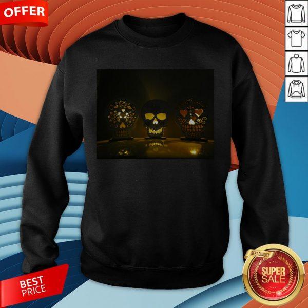 Glowing Skulls Day Of The Dead Dia De Muertos In Mexican Sweatshirt