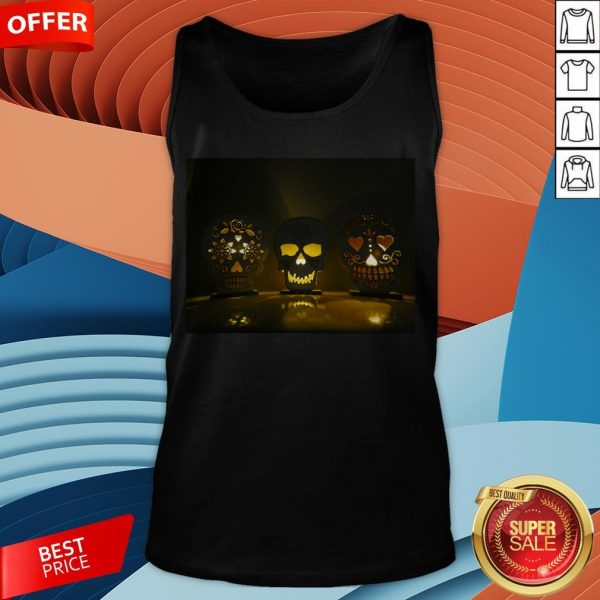 Glowing Skulls Day Of The Dead Dia DeGlowing Skulls Day Of The Dead Dia De Muertos In Mexican Tank Top Muertos In Mexican Tank Top