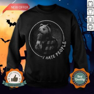 Halloween Bear Beard I Hate People Sweatshirt