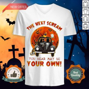 Halloween Cat Riding Car The Next Scream You Hear May Be Your Own Sunset V-neck
