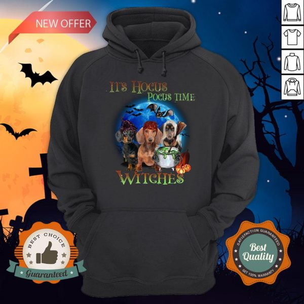 Halloween Dachshund It's Hocus Pocus Time Witches Hoodie