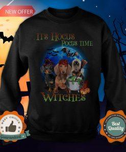 Halloween Dachshund It's Hocus Pocus Time Witches Sweatshirt