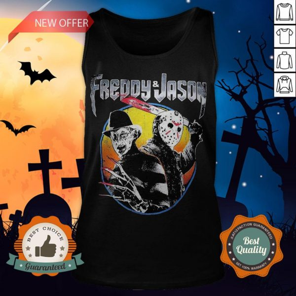 Halloween Freddy And Jason Vintage Tank Top