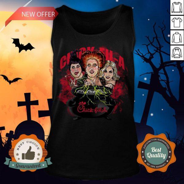 Halloween Hocus Pocus Witch Chick Fil A Tank Top