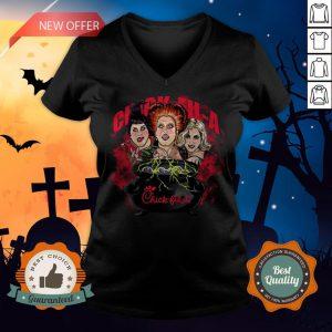 Halloween Hocus Pocus Witch Chick Fil A V-neck