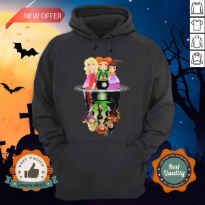 Halloween Hocus Pocus Witch Water Reflection Hoodie