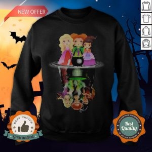 Halloween Hocus Pocus Witch Water Reflection Sweatshirt