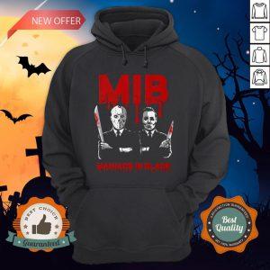 Halloween Jason Voorhees And Freddy Krueger Mib Maniacs In Black Hoodie
