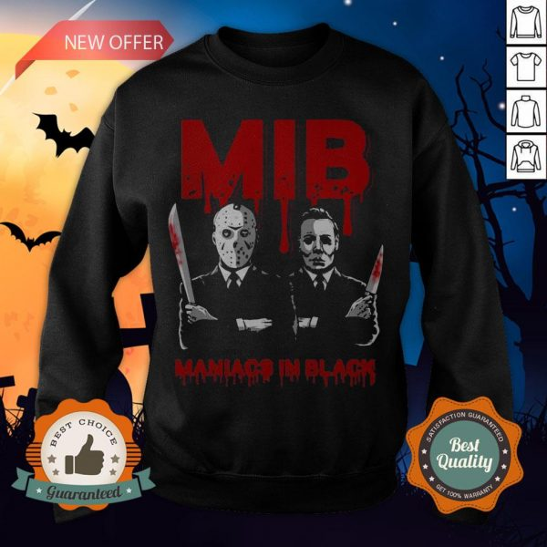 Halloween Jason Voorhees And Freddy Krueger Mib Maniacs In Black Sweatshirt