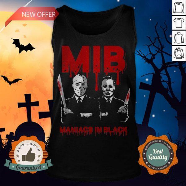 Halloween Jason Voorhees And Freddy Krueger Mib Maniacs In Black Tank Top