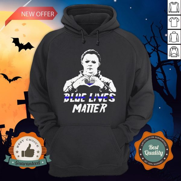 Halloween Michael Myers Blue Lives Matter American Flag Independence Day Hoodie