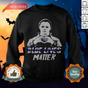 Halloween Michael Myers Blue Lives Matter American Flag Independence Day Sweatshirt