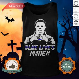 Halloween Michael Myers Blue Lives Matter American Flag Independence Day Tank Top