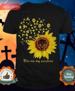 Halloween Michael Myers Sunflower Skull You Are My Sunshine Shirt