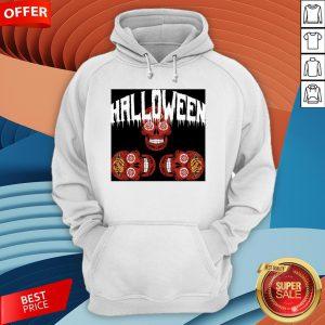 Halloween Smiling Sugar Skulls Day Dead Dia De Muertos Hoodie