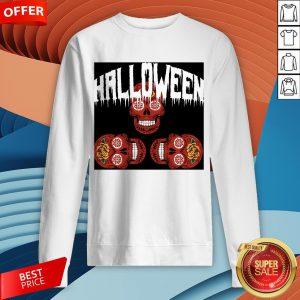 Halloween Smiling Sugar Skulls Day Dead Dia De Muertos Sweatshirt