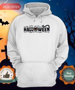 Happy Halloween Women Men Black Cat Pumpkin Face T-Hoodie