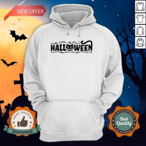 Happy Halloween Women Men Black Cat Pumpkin Face T-Hoodie