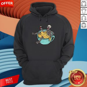 Skeleton Drinking Coffee Dia De Los Muertos Day Dead Halloween Hoodie