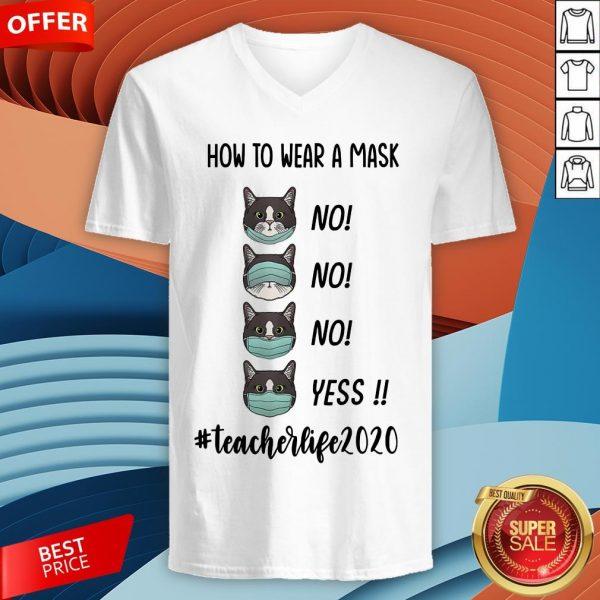 How To Wear A Mask #Teacherlife 2020 V-neck