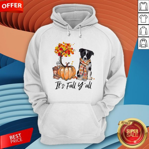 It's Fall Y'all Border Collie Dog Halloween HoodieIt's Fall Y'all Border Collie Dog Halloween Hoodie
