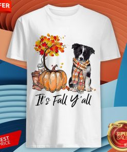 It's Fall Y'all Border Collie Dog Halloween Shirt