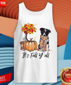 It's Fall Y'all Border Collie Dog Halloween Tank Top
