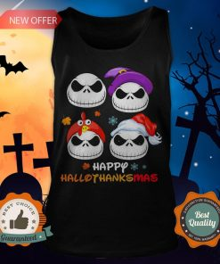 Jack Skellington Happy Hallothanksmas Tank Top