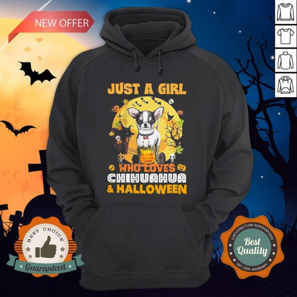 Just A Girl Who Loves Chihuahua And Halloween Hoodie