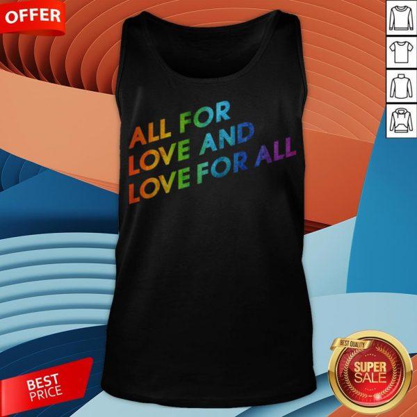 LGBT Gay Lesbian Pride Flag Love Pride Month Tank Top
