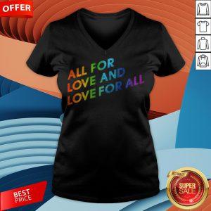 LGBT Gay Lesbian Pride Flag Love Pride Month V-neck