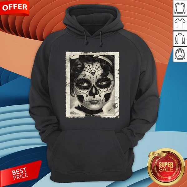 Little Girl Makeup Skull Day Of The Dead Hoodie