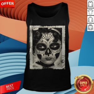 Little Girl Makeup Skull Day Of The Dead Tank Top