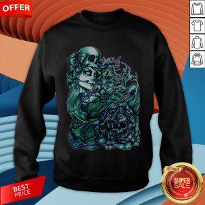 Mermaid Of The Dead Sugar Skull Day Dead Dia De Los Muertos Sweatshirt