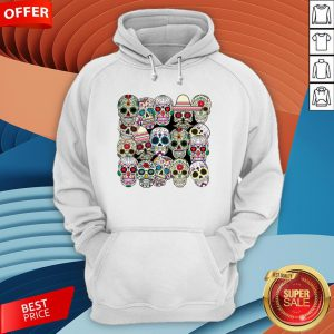 Mexican Day Of The Dead Sugar Skulls Hoodie