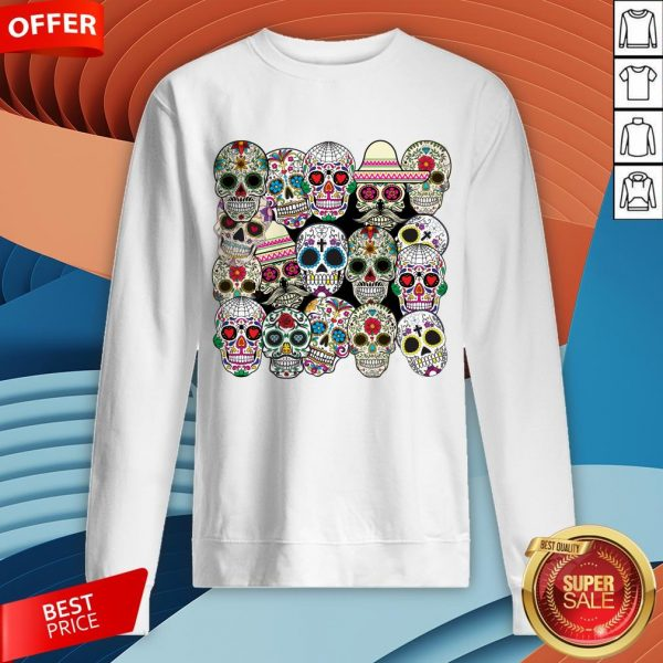 Mexican Day Of The Dead Sugar Skulls Sweatshirt