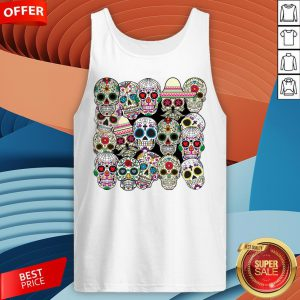 Mexican Day Of The Dead Sugar Skulls Tank Top