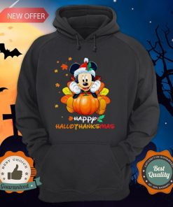 Mickey Mouse Pumpkin Happy Hallothanksmas Hoodie