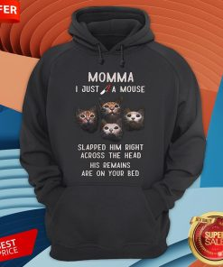 Momma I Just A Mouse Slapped Him Right Across The Head His Remains Are On Your Bed Hoodie