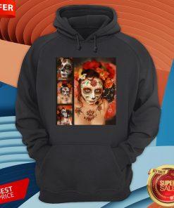 Nice Girl Makeup Skull Dia De Los Muertos - Day Of Nice Girl Makeup Skull Dia De Los Muertos - Day Of The Dead HoodieThe Dead Hoodie