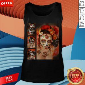 Nice Girl Makeup Skull Dia De Los Muertos - Day Of The Dead Tank Top