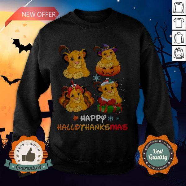 Nice Lions Happy Hallothanksmas Sweatshirt