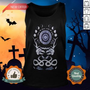 Rabbit Skull Antler Black Zip T-Tank Top