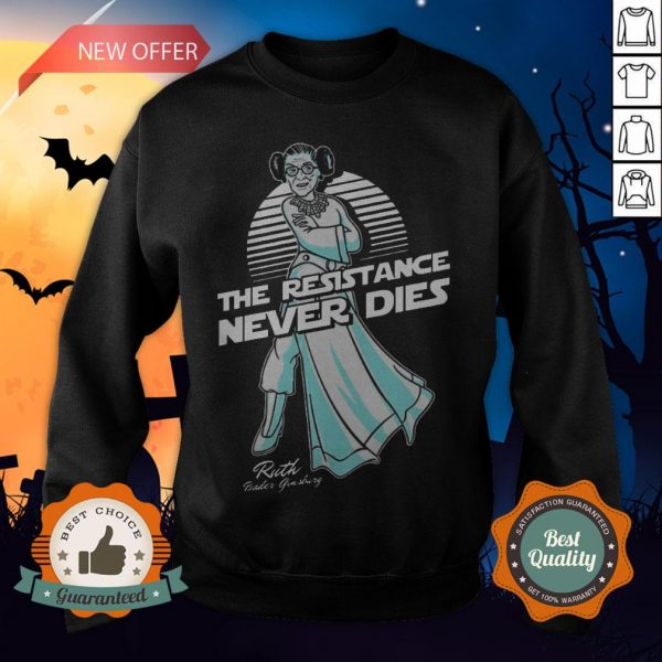 RBG The Resistance Never Dies Sweatshirt